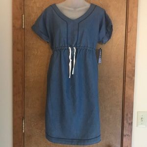 NWT adorable jean maternity dress